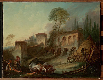 Imaginary Landscape With The Palatine Hill From Campo Vaccino Original