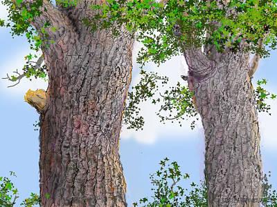 Imaginary Trees Art Print by Jim Hubbard
