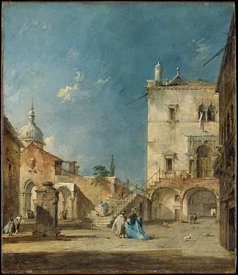 Imaginary View Of A Venetian Square Or Campo Original