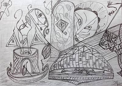 Drawing - Imagination by Bennu Bennu