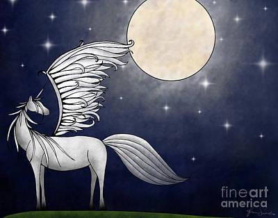 Pegasus Mixed Media - Imagination by Glenna Smiesko