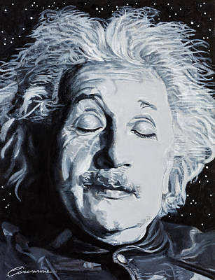 Theory Of Relativity Painting - Imagination Is More Important Than Knowledge - Albert Einstein by Joe Ciccarone