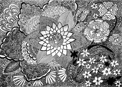 Inner World Drawing - Imagination by Nigina Kanunova