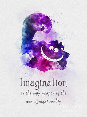 Cheshire Wall Art - Mixed Media - Imagination by My Inspiration