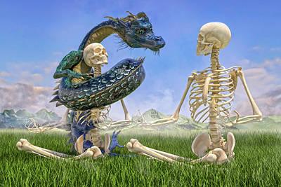 Surrealism Digital Art - Imaginative Meditation Dragon by Betsy Knapp