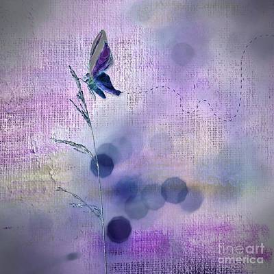 Purple Digital Art - Imagine ... Believe It - 44at01 by Variance Collections