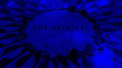 Imagine 2015 Blue Art Print by Rob Hans
