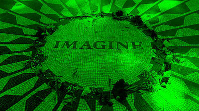 Imagine 2015 Green Art Print by Rob Hans