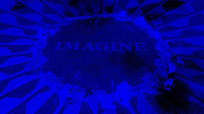 Imagine 2015 Negative Blue Art Print by Rob Hans