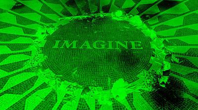 Imagine 2015 Negative Green Art Print by Rob Hans