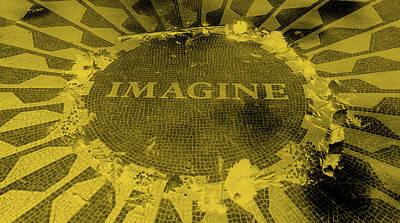 Imagine 2015 Negative Orange Art Print by Rob Hans