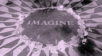 Imagine 2015 Negative Pink Art Print by Rob Hans