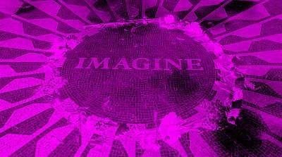 Imagine 2015 Negative Purple Art Print by Rob Hans