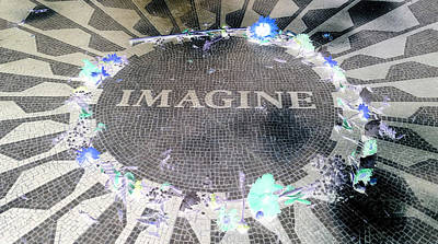 Imagine 2015 Negative Art Print by Rob Hans