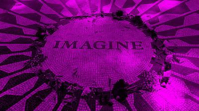 Imagine 2015 Purple Art Print by Rob Hans