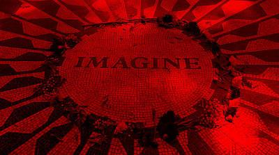 Imagine 2015 Red Art Print by Rob Hans