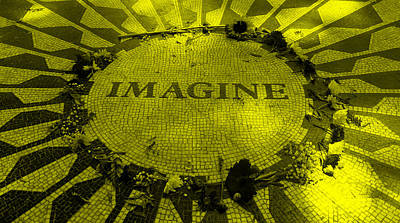 Imagine 2015 Yellow Art Print by Rob Hans