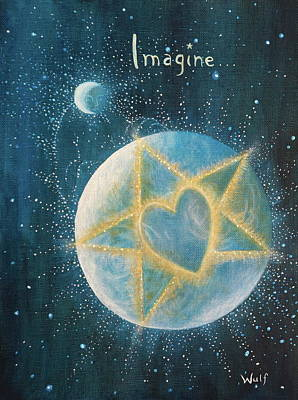 Painting - Imagine by Bernadette Wulf