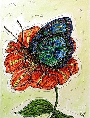 Painting - Imagine Butterflies A by Kim Jones