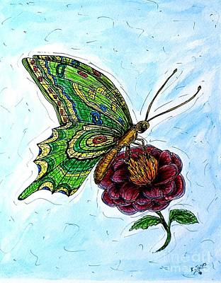 Painting - Imagine Butterflies B by Kim Jones