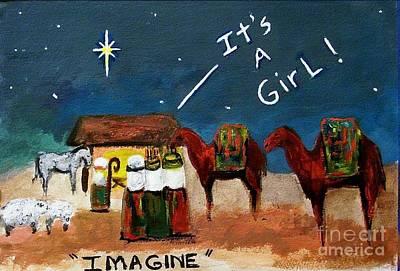 Nativity Painting - Imagine by Frances Marino