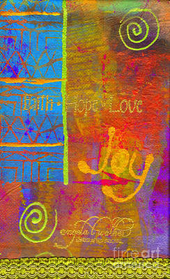 Mixed Media - Imagine Joy by Angela L Walker