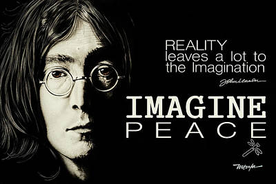 Painting - Imagine Peace- John Lennon by Dan Menta