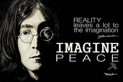 Painting - Imagine Peace- John Lennon by Dan Menta