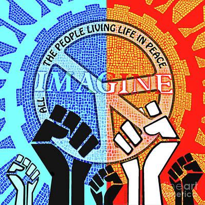 Drawing - Imagine Peace Now by Joseph J Stevens