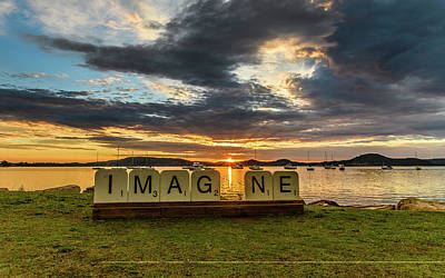 Imagine Sunrise Waterscape Over The Bay Art Print