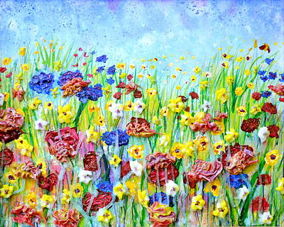 Pastry Bag Painting - Imagining A Meadow by Regina Valluzzi