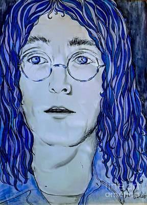 Aloha For Days - Imagining John Lennon in Blue 2 by Joan-Violet Stretch