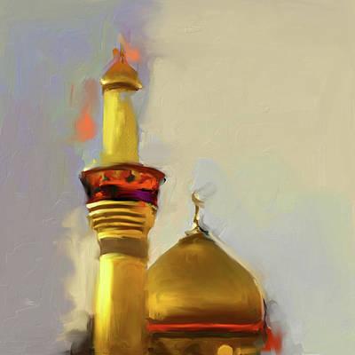 Shrine Painting - Imam Al Hussein Shrine 603 1 by Mawra Tahreem