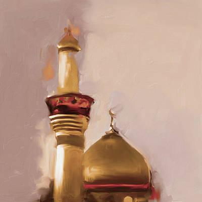 Shrine Painting - Imam Al Hussein Shrine 603 2 by Mawra Tahreem