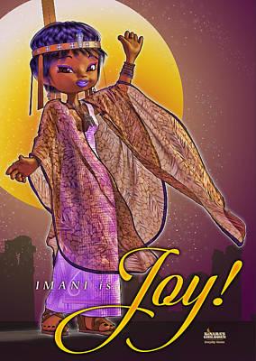 Wall Art - Digital Art - Imani Is Joy by Darryl Crosby