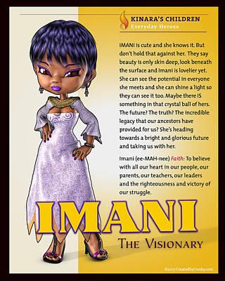 Wall Art - Photograph - Imani, The Visionary by Darryl Crosby