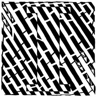 Imaze Drawing - iMaze by Yonatan Frimer Maze Artist