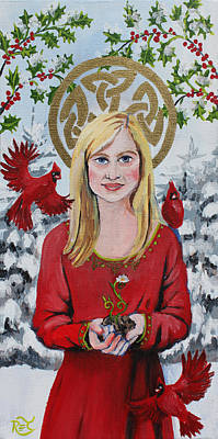 Sprout Painting - Imbolc by Renee Thompson