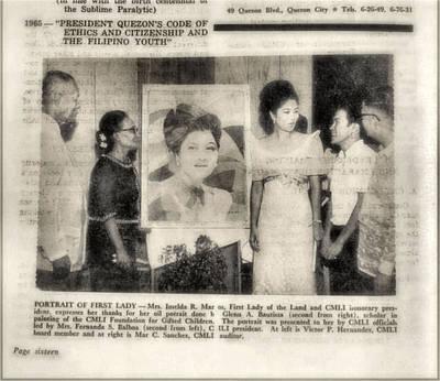 Photograph - Imelda Marcos 1967 B by Glenn Bautista