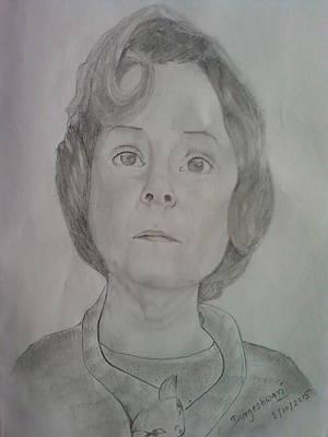 Dolores Umbridge Drawing - Imelda Staunton by Durgeshwari Durgeshwari