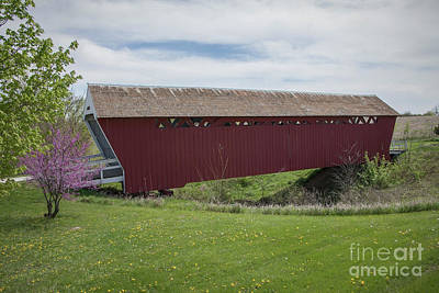 Photograph - Imes Covered Bridge - Madison County - Iowa by Teresa Wilson