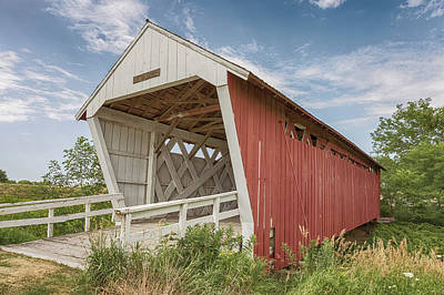 Photograph - Imes Covered Bridge by Susan Rissi Tregoning