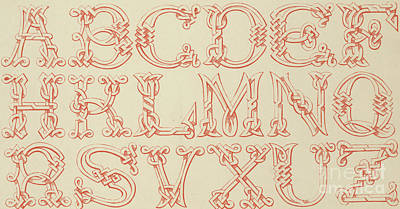 Alphabet Drawing - Imitation Saxon by English School