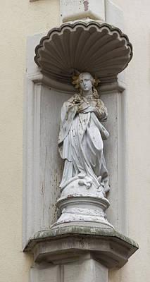 Religious Art Photograph - Immaculate Hausmadonna Heidelberg  by Teresa Mucha