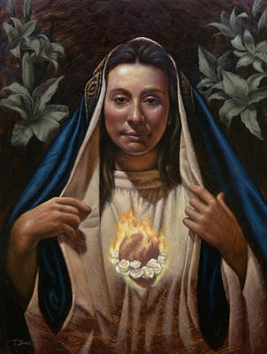 Liturgical Painting - Immaculate Heart by Timothy Jones