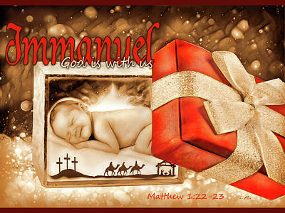 Digital Art - Immanuel by Jennifer Page