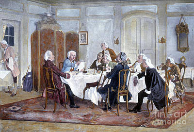 Immanuel Kant And His Comrades Art Print by Science Source