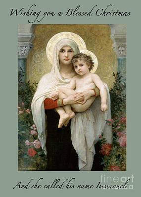 Mother Mary Digital Art - Immanuel by Maureen Tillman