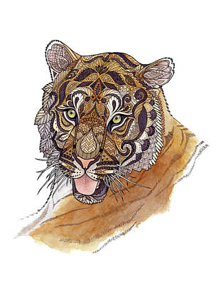 Painting - Immature Tiger by ZH Field