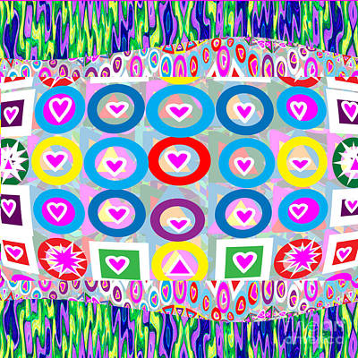 Rights Managed Images Digital Art - Immense Love Adorable Poster Gift Hearts Collection By Navinjoshi At Fineartamerica.com  Elegant Int by Navin Joshi